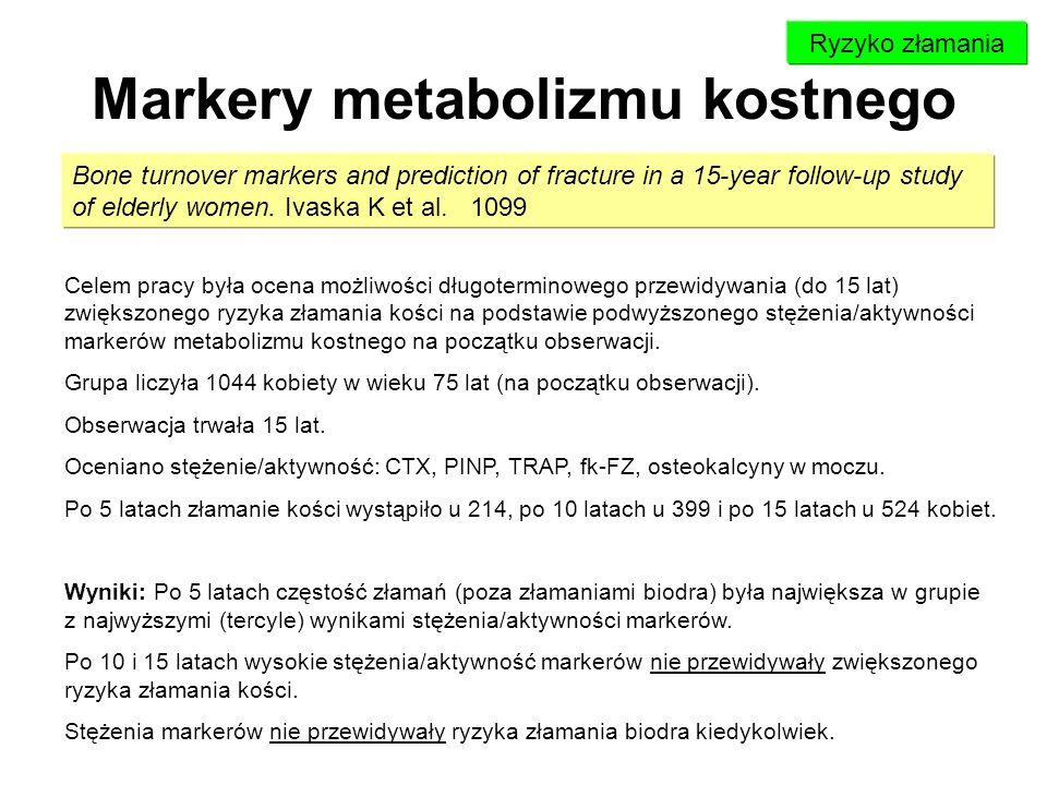 Markery metabolizmu kostnego