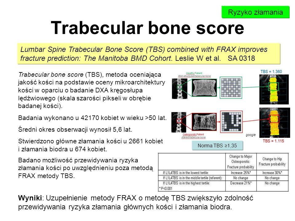 Trabecular bone score Ryzyko złamania