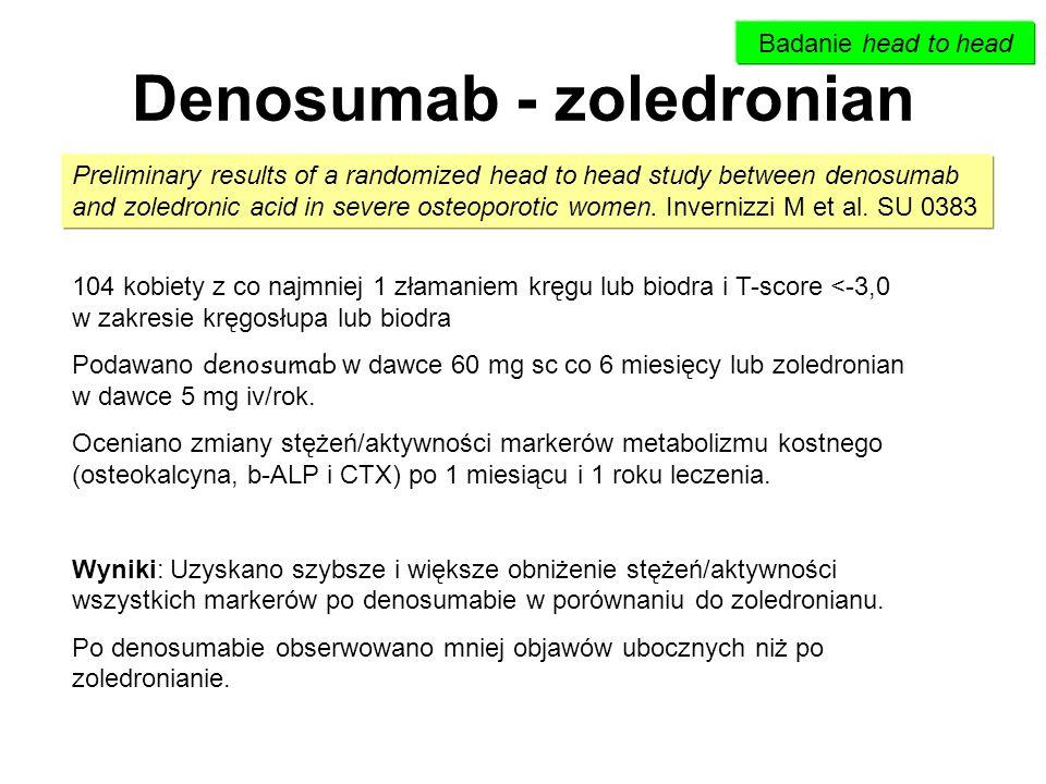Denosumab - zoledronian