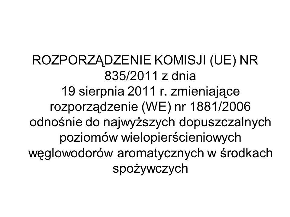 ROZPORZĄDZENIE KOMISJI (UE) NR 835/2011 z dnia 19 sierpnia 2011 r