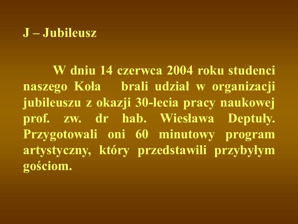 J – Jubileusz