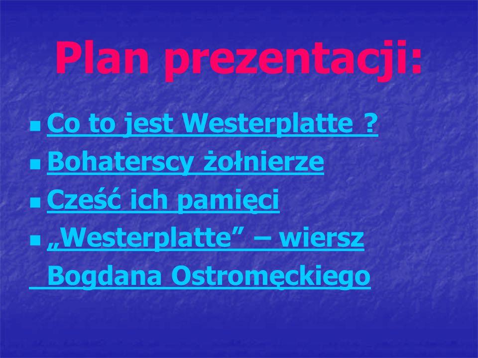 Plan prezentacji: Co to jest Westerplatte Bohaterscy żołnierze