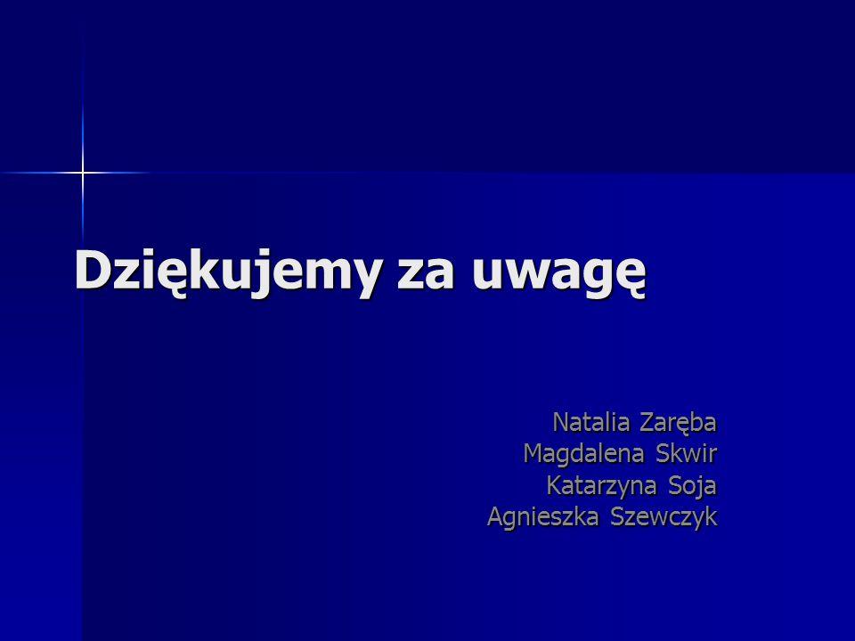 Natalia Zaręba Magdalena Skwir Katarzyna Soja Agnieszka Szewczyk