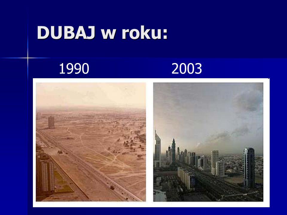 DUBAJ w roku: 1990 2003
