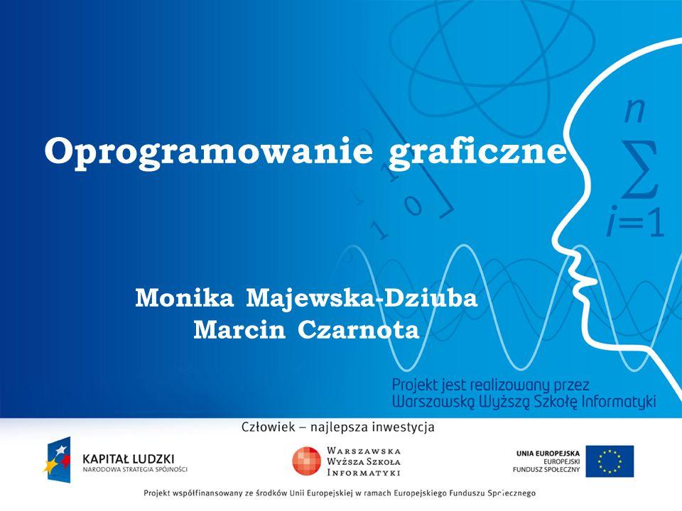 Oprogramowanie graficzne Monika Majewska-Dziuba Marcin Czarnota