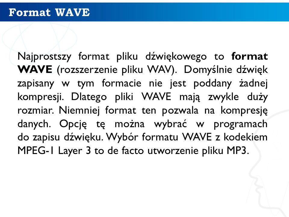 Format WAVE