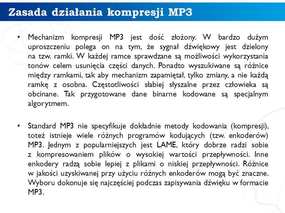Zasada działania kompresji MP3