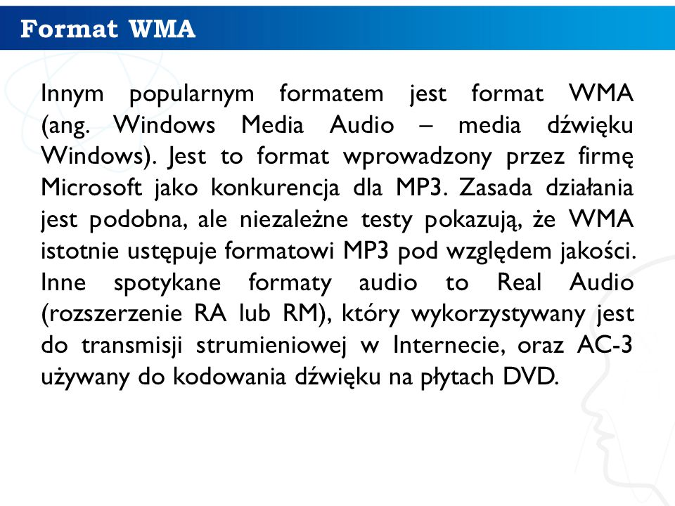 Format WMA