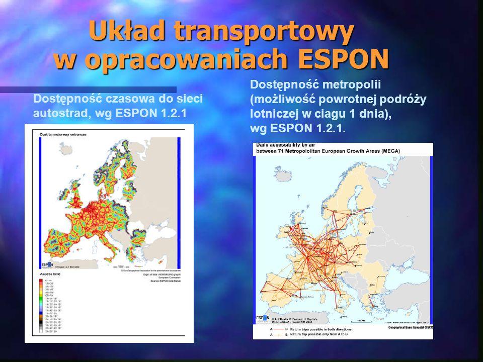 Układ transportowy w opracowaniach ESPON