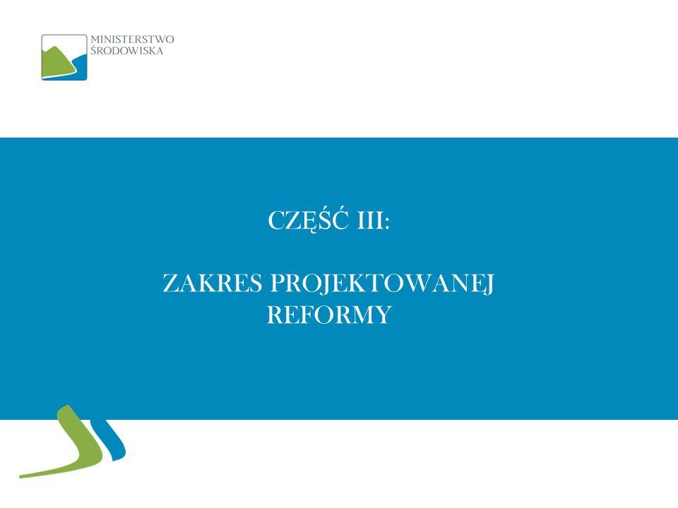 Część III: Zakres projektowanej reformy