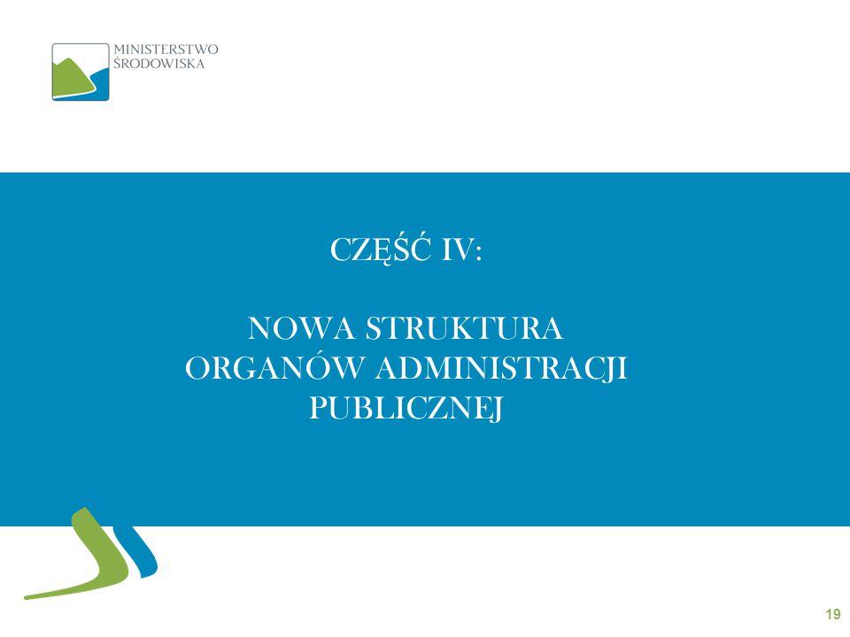 CZĘŚĆ IV: Nowa struktura organów administracji publicznej