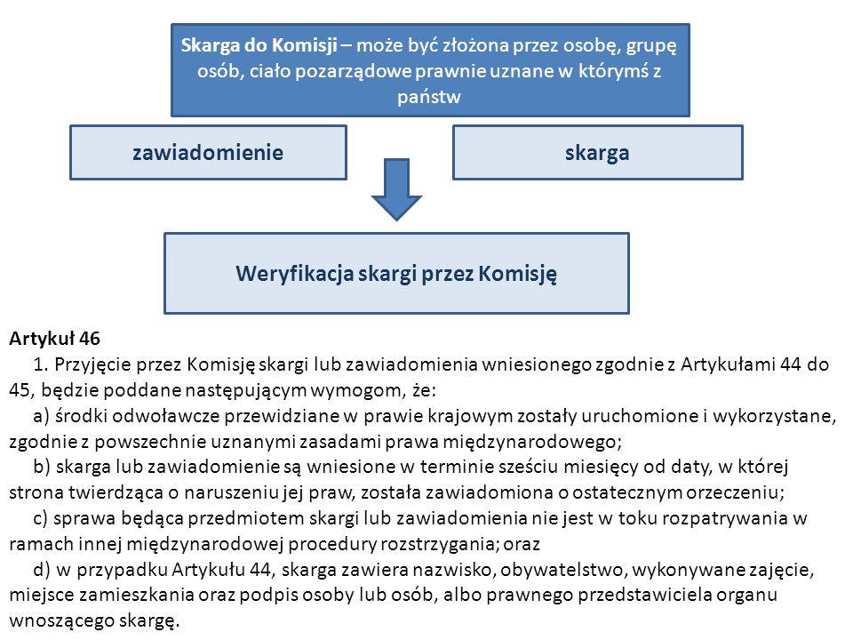 Weryfikacja skargi przez Komisję