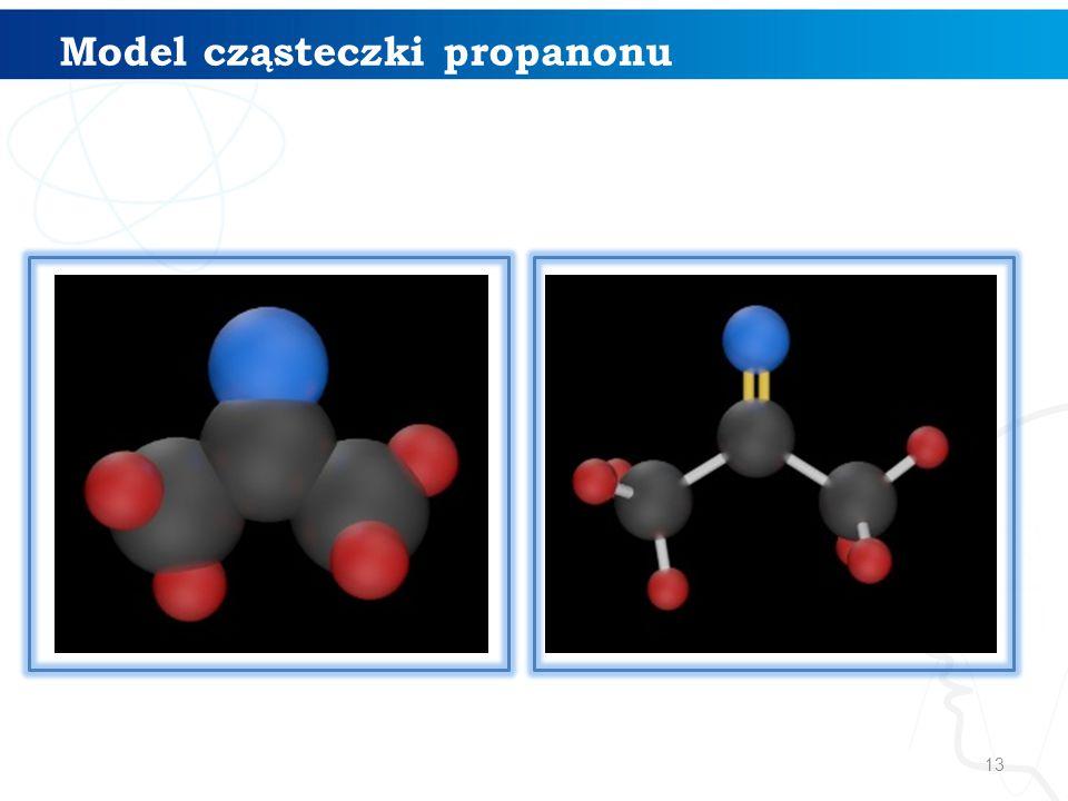 Model cząsteczki propanonu
