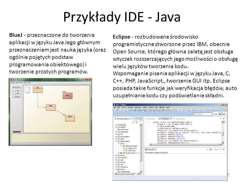 Przykłady IDE - Java