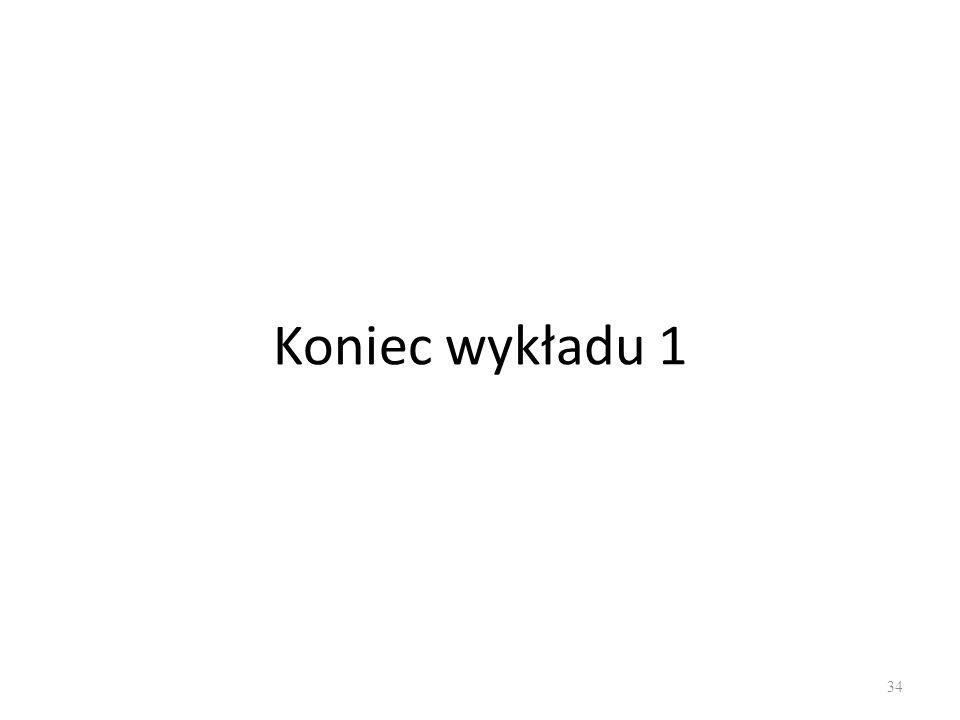 Koniec wykładu 1