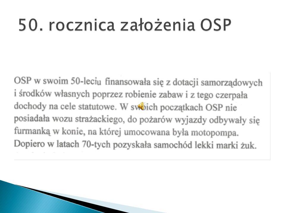 50. rocznica założenia OSP