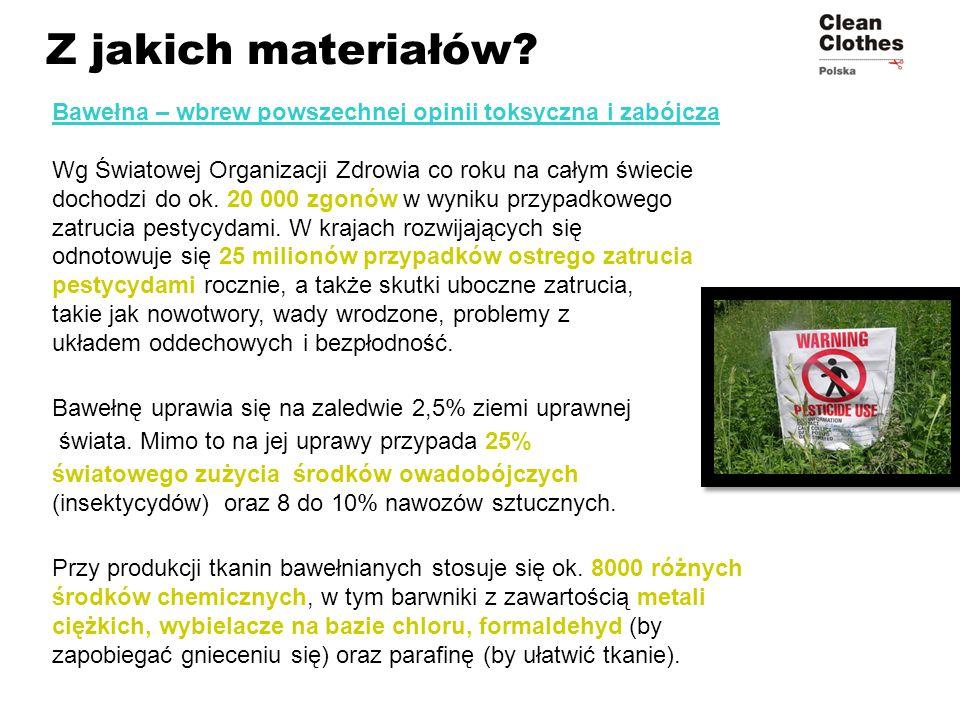 Z jakich materiałów Bawełna – wbrew powszechnej opinii toksyczna i zabójcza.