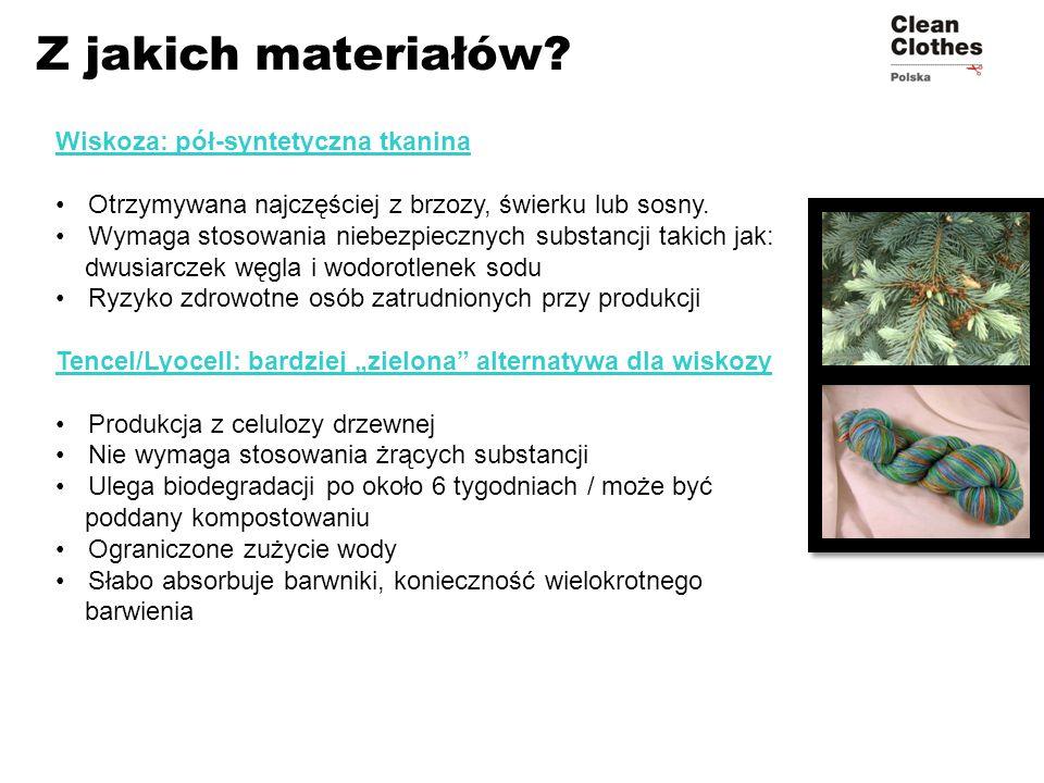 Z jakich materiałów Wiskoza: pół-syntetyczna tkanina