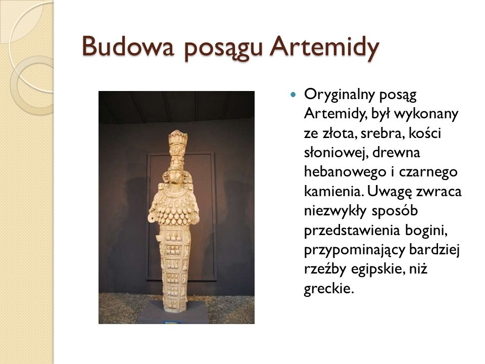 Budowa posągu Artemidy