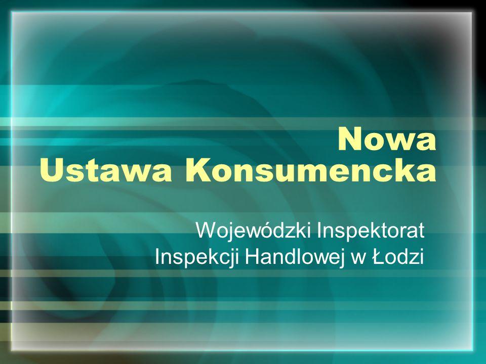 Nowa Ustawa Konsumencka