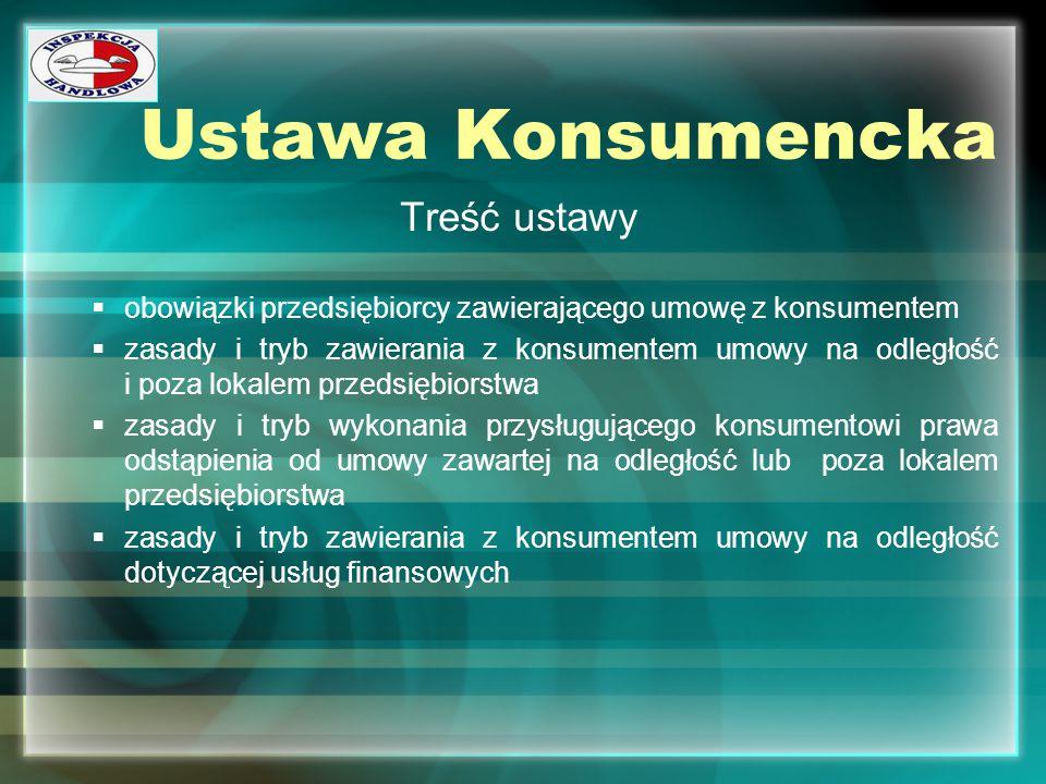 Ustawa Konsumencka Treść ustawy