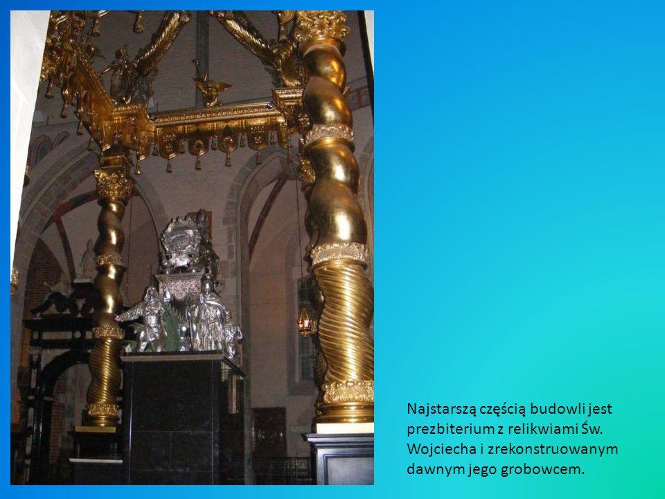 Najstarszą częścią budowli jest prezbiterium z relikwiami Św
