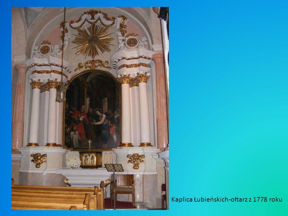 Kaplica Łubieńskich-ołtarz z 1778 roku