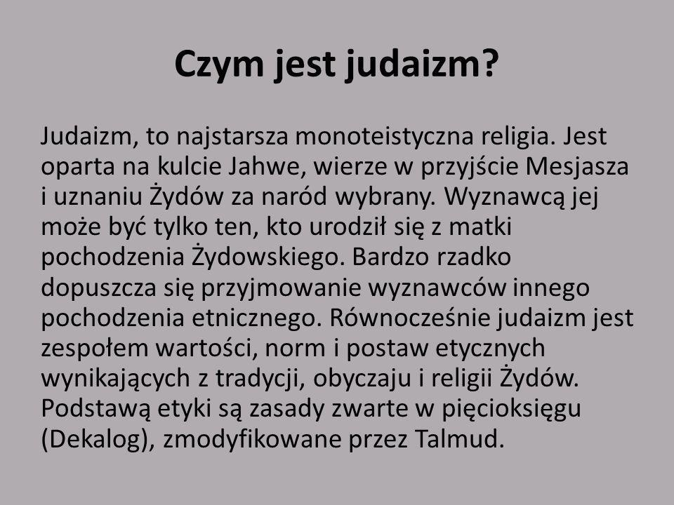 Czym jest judaizm