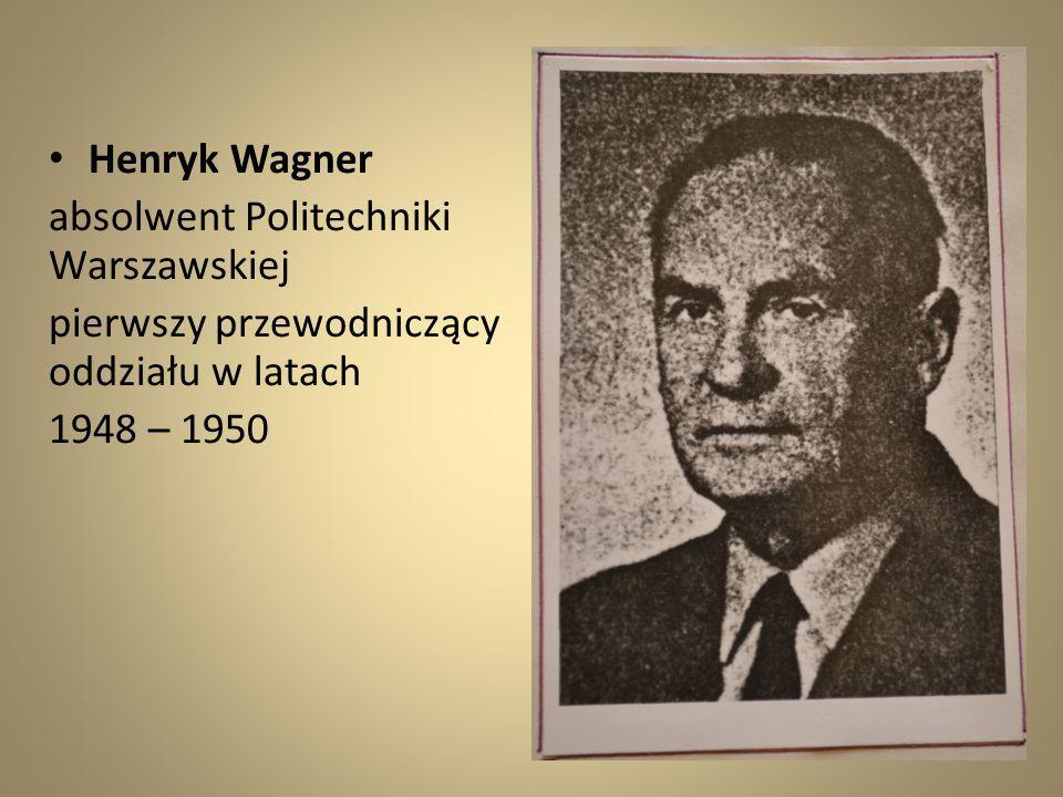 Henryk Wagner absolwent Politechniki Warszawskiej.