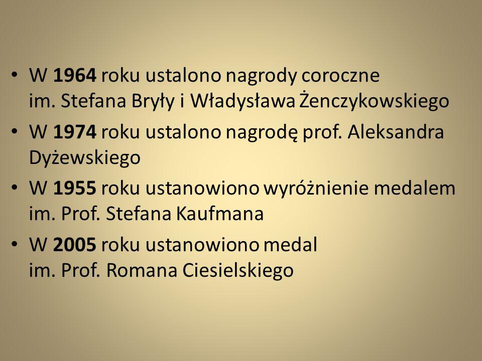 W 1964 roku ustalono nagrody coroczne im