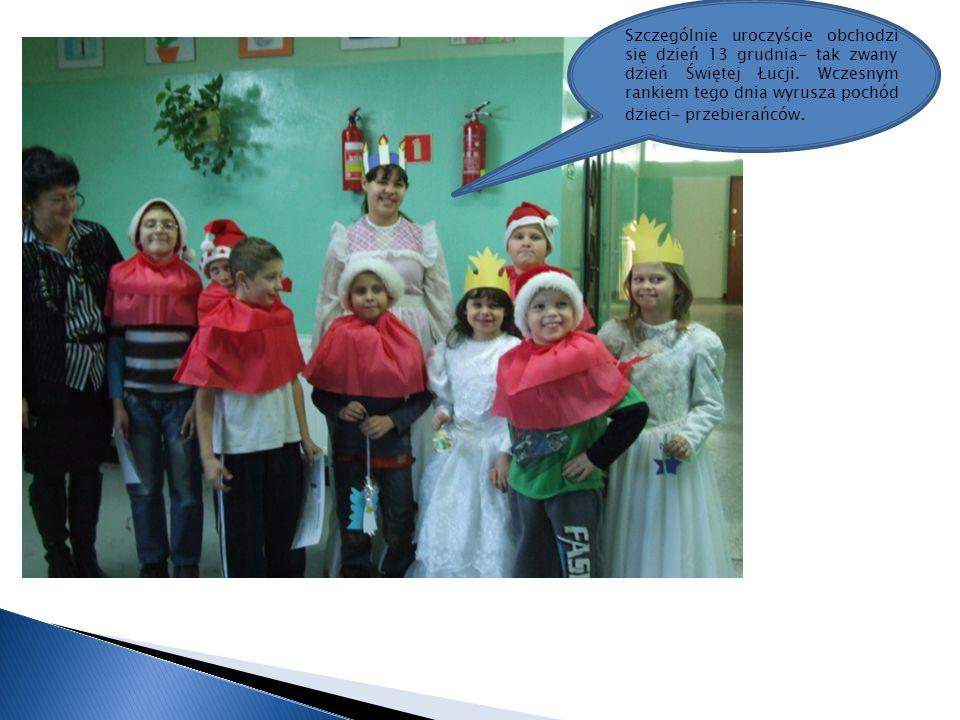 Szczególnie uroczyście obchodzi się dzień 13 grudnia- tak zwany dzień Świętej Łucji.