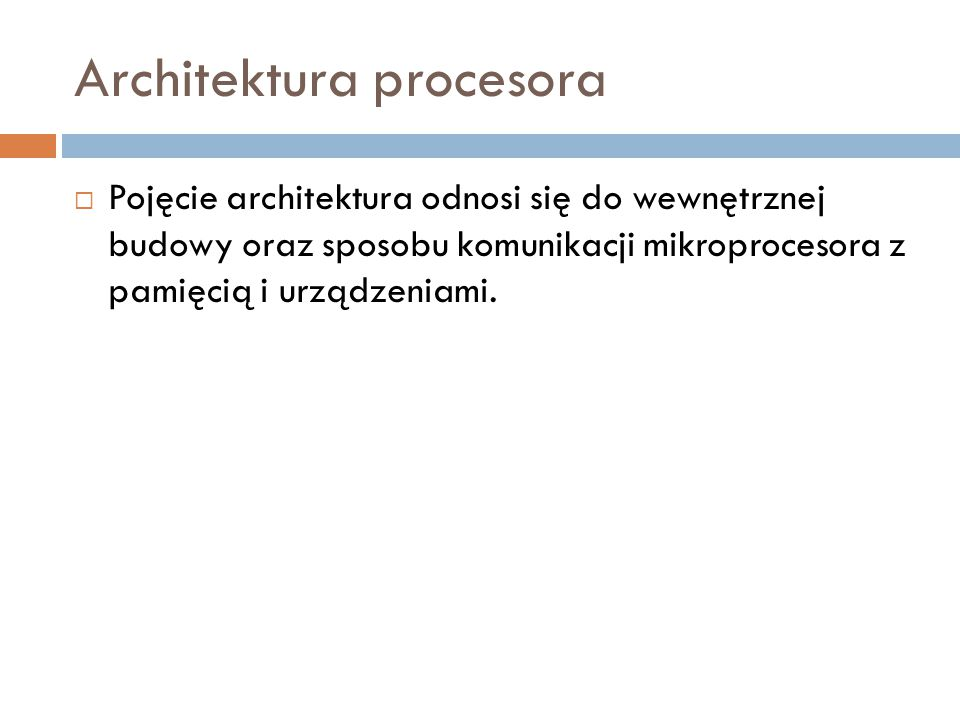 Architektura procesora