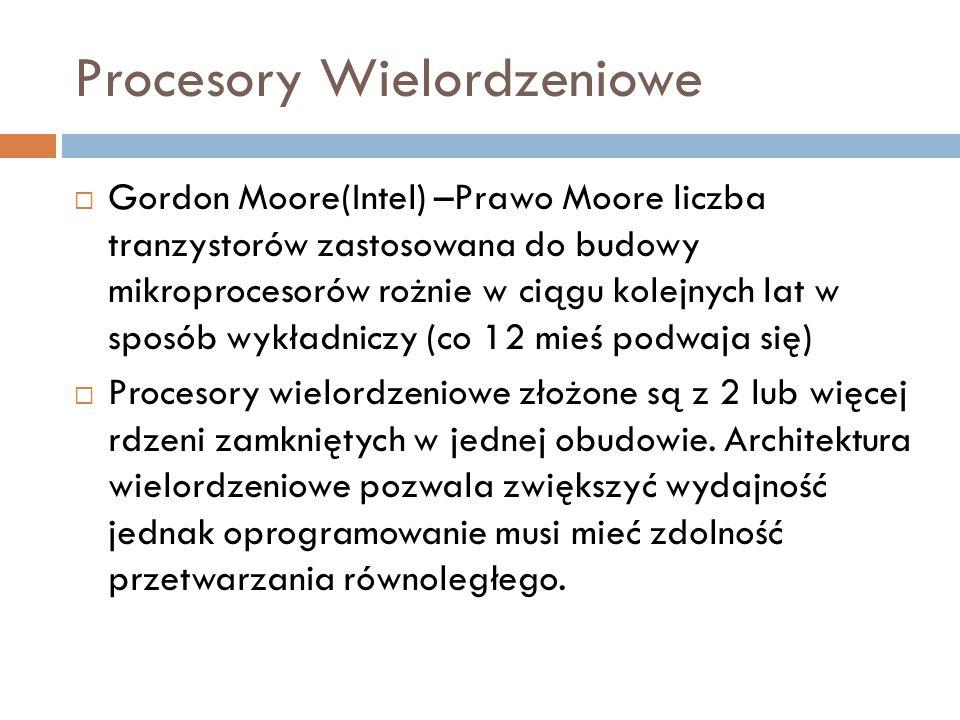 Procesory Wielordzeniowe