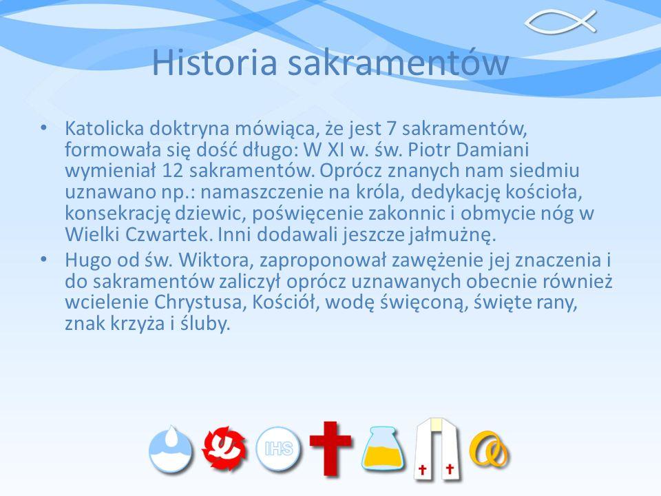 Historia sakramentów