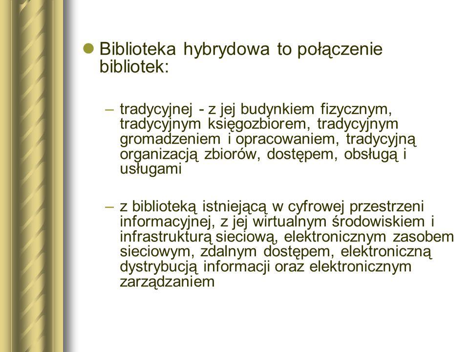 Biblioteka hybrydowa to połączenie bibliotek: