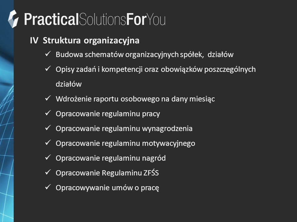 IV Struktura organizacyjna