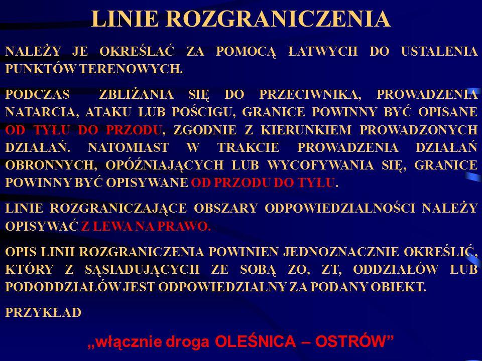 """""""włącznie droga OLEŚNICA – OSTRÓW"""