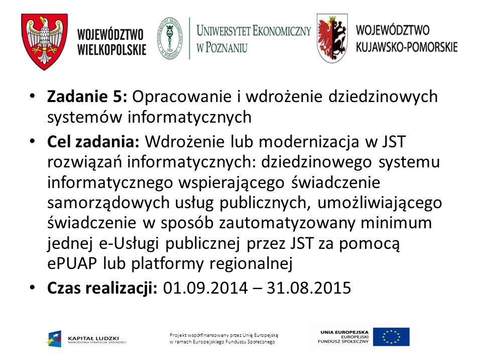 Zadanie 5: Opracowanie i wdrożenie dziedzinowych systemów informatycznych
