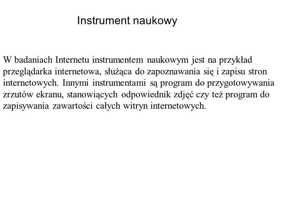Instrument naukowy