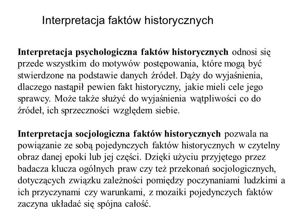 Interpretacja faktów historycznych