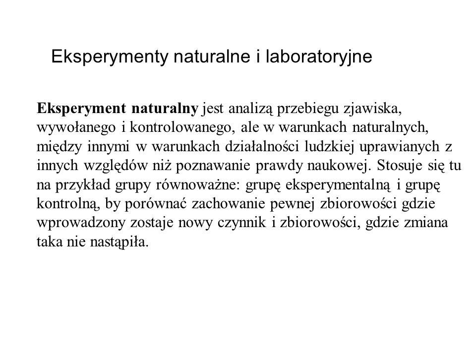 Eksperymenty naturalne i laboratoryjne