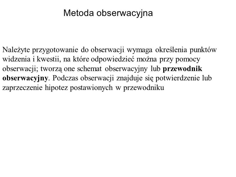 Metoda obserwacyjna