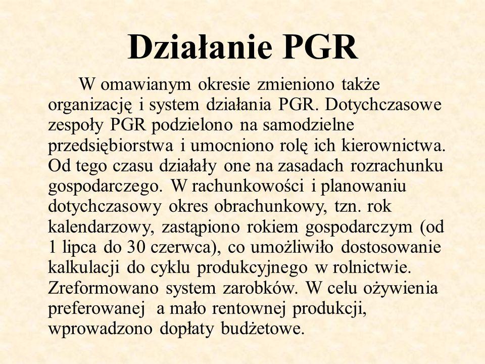 Działanie PGR
