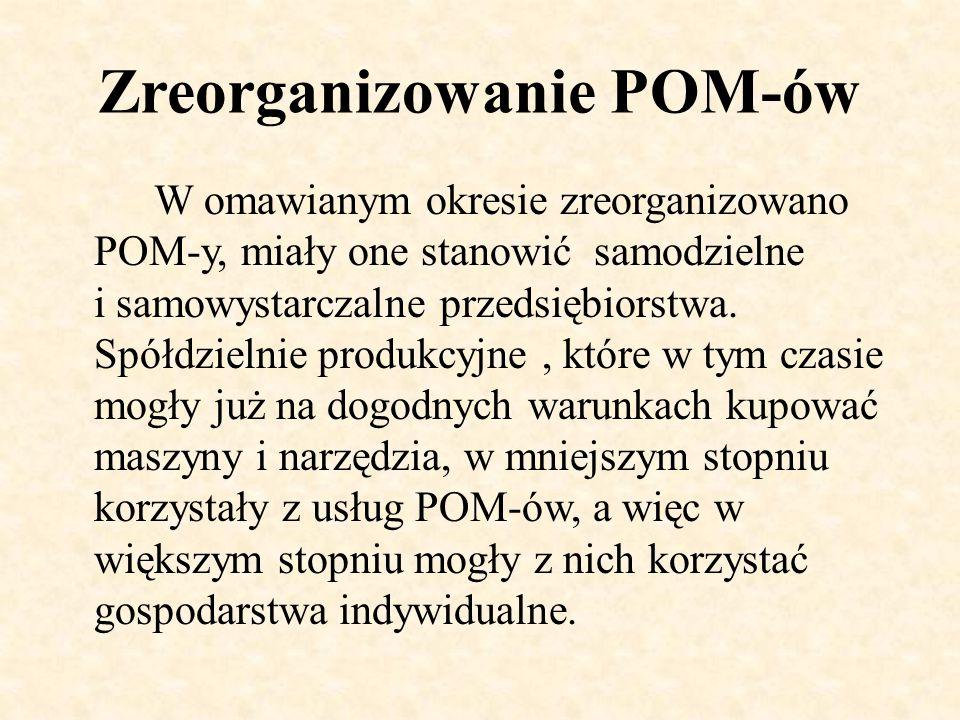 Zreorganizowanie POM-ów