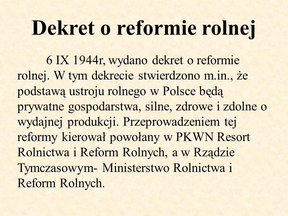 Dekret o reformie rolnej