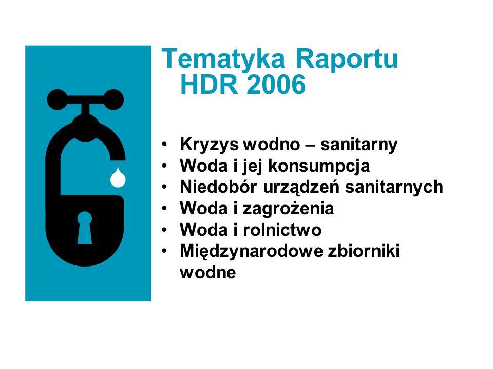 Tematyka Raportu HDR 2006 Kryzys wodno – sanitarny
