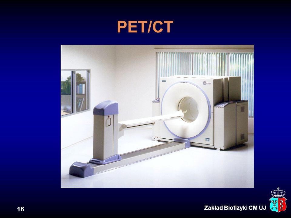 PET/CT Zakład Biofizyki CM UJ