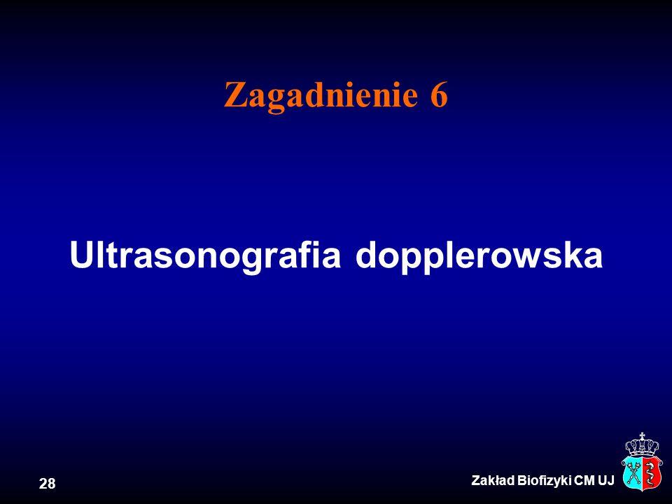 Zagadnienie 6 Ultrasonografia dopplerowska