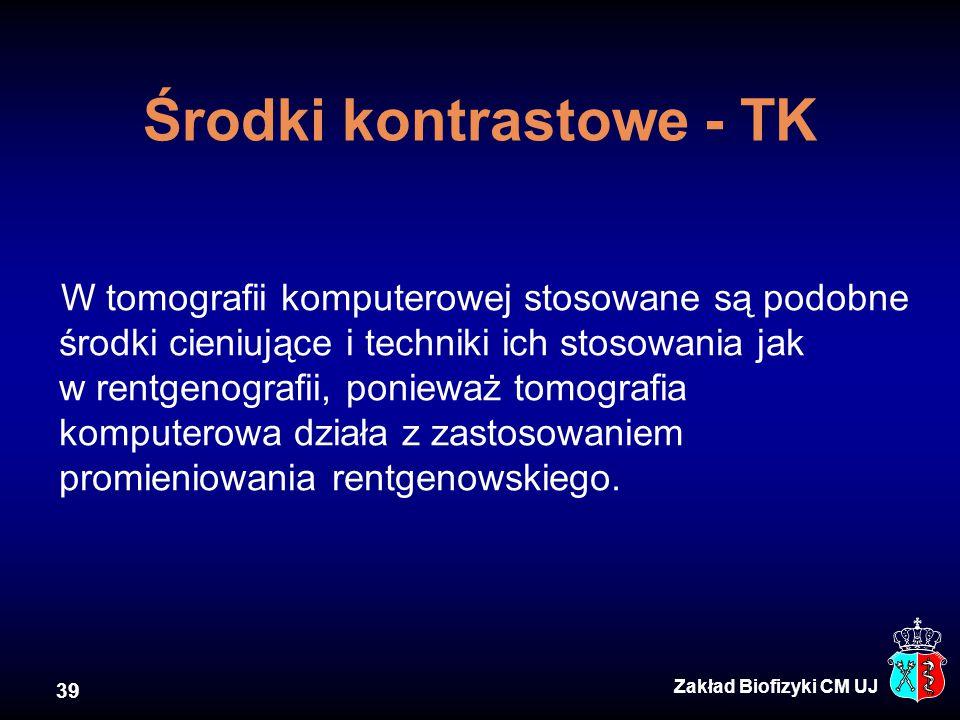 Środki kontrastowe - TK