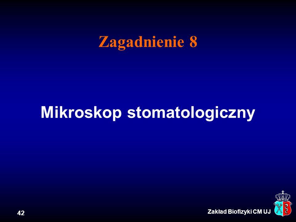 Zagadnienie 8 Mikroskop stomatologiczny